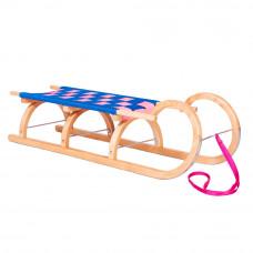 Sanki drewniane BARANIE ROGI Inlea4Fun, 120 cm, miękkie siedzisko Preview