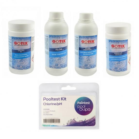 Zestaw chemii basenowej GOTIX Professional - 5 w 1