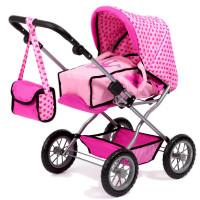 Wózek dla lalek REIG Combi Grande spacerowy - jasnoróżowy