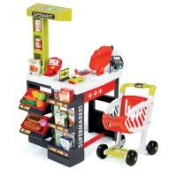 Sklep elektroniczny dla dzieci Supermarket Smoby z kasą czerwono-zielony 41 elementów, 350210