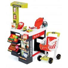 Sklep elektroniczny dla dzieci Supermarket Smoby z kasą czerwono-zielony 41 elementów, 350210 Preview